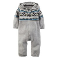 Carter's Fairisle Knit Coverall - Baby Boy, Size: