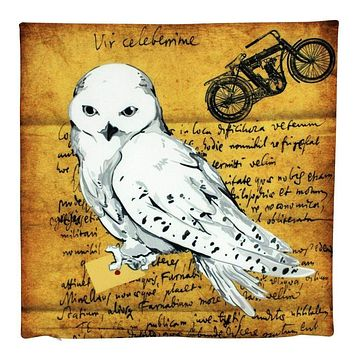 Snow Owl   Letter   Mail   Motorcycle   Vintage   Pillow Cover   Home Decor   Throw Pillows   Happy Birthday   Kids Room Decor   Room Decor