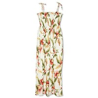 cloud hawaiian maxi dress