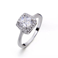 Sterling Silver Cubic Zirconia Engagement Band Ring size 7