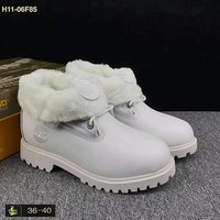 Timberland trendy men and women in high Bang Chao shoes F-HAOXIE-ADXJ White
