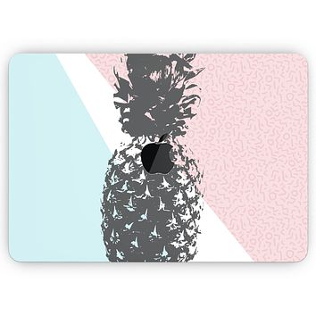 """Coral Mint Summer Pineapple v1 - Skin Decal Wrap Kit Compatible with the Apple MacBook Pro, Pro with Touch Bar or Air (11"""", 12"""", 13"""", 15"""" & 16"""" - All Versions Available)"""