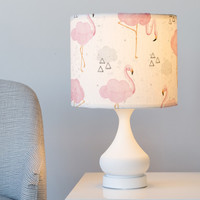 Cloudy with a Chance of Flamingos Drum Lampshade by Noonday Design | Minted