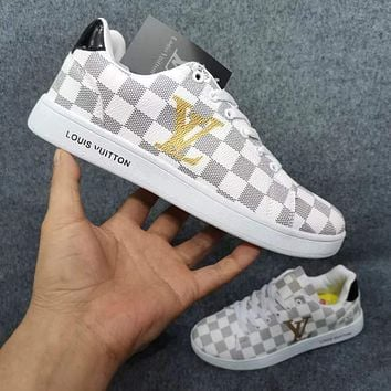 LV Louis Vuitton Casual all-match men's and women's fashion sneakers Shoes