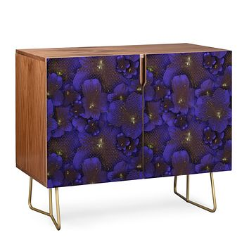 Bel Lefosse Design Electric Blue Orchid Credenza