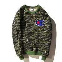 Champion sweater round neck hedge plus cashmere sweater men and women models sportswear coat jacket lovers