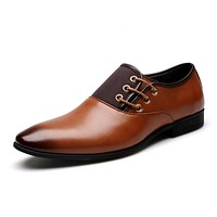 BOSLEY Men's Formal Business Genuine Leather Dress Shoes