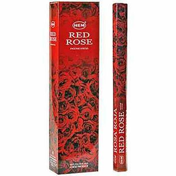 "Hem Red Rose 16""L Jumbo Sticks - 10 Sticks (6 Packs Per Box)"