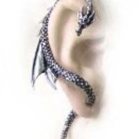 The Dragon's Lure (stud) - Single Gothic Earring