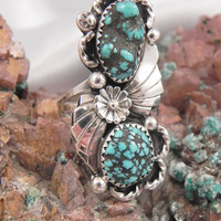 Huge Native American Turquoise Ring