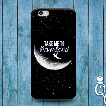 iPhone 4 4s 5 5s 5c 6 6s plus + iPod Touch 4th 5th 6th Generation Cute Custom Phone Cover Neverland Black White Moon Cool Dream Sky Fun Case