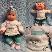 """Baby Doll Clothes to fit 15 inch doll """"Mommy's Girl"""" Will fit Bitty Baby® fits Cabbage Patch® doll outfit dress leggings socks"""