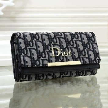 Dior Multicolor Small Wallet Fashion Long Wild Clutch bag-1