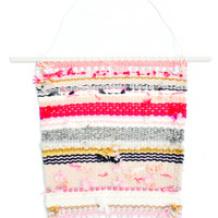 """""""Pink Sand"""" Woven Wall Hanging"""
