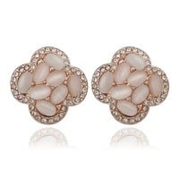 MLOVES Women's Classical Diamanted Delicate Opal Ear Cuffs