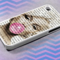 Marilyn Monroe Buble Gum, For iPhone 4/4s/5/5c/5s,iPod 4/5,Samsung S2/S3/S4/S3,S4 Mini,Htc One/X Case Rubber/Plastic