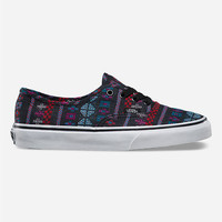 Vans Guate Stripe Authentic Womens Shoes Black Combo  In Sizes