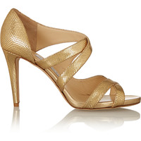 Jimmy Choo - Valance snake-effect leather sandals