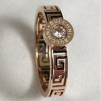Givenchy Fashion new simple letter pattern diamond ring jewelry Rose gold
