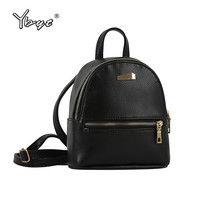 YBYT brand 2017 new small solid preppy style rucksack high quality women shopping backpacks ladies famous designer travel bag