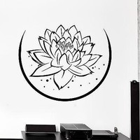 Wall Sticker Lotus Floral Flower Buddha Chakra Zen Vinyl Decal Unique Gift (z2948)