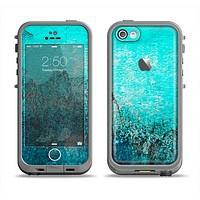 The Grungy Teal Surface V3 Apple iPhone 5c LifeProof Fre Case Skin Set