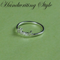 Name Ring - Personalized Gift - Tiny Ring  - Mother's Day Jewelry - 18K Gold Plated