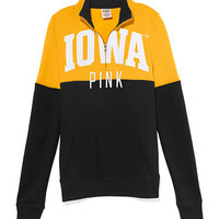 University of Iowa Colorblock Half Zip Pullover - PINK - Victoria's Secret
