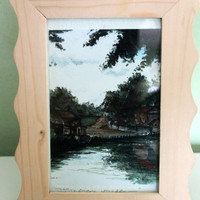 Collectible Painting, Tissington Village by Helen Clark, Table Decor