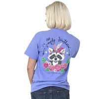 """Simply Southern """"Racoon"""" Short Sleeve Tee"""
