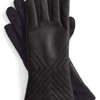 Women's Fownes Brothers Tech Fingertip Leather & Knit Gloves,