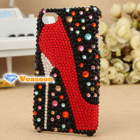 High heeled shoes phone case iphone 4 case i phone 4s case i phone case DIY phone case  3D case iphone case phone cases covers