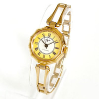 Ornate Case Womens Watch. Vintage Womens Watch Bracelet Gold Plated. Mechanical Ladies Wrist Watch LUCH Ray Soviet Watch For Women. Gift Her