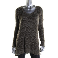 Free People Womens Wool Blend Scoop Neck Pullover Sweater