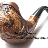 10 DISCOUNT on Hand Carved Smoking Pipe Tobacco by forpipesmokers