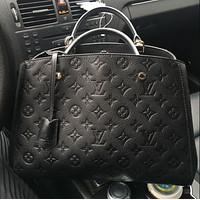 LV Louis Vuitton classic letter printing retro ladies shoulder bag messenger bag shopping bag