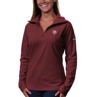 Columbia Texas A&M Aggies Womens Glacial Fleece Half Zip Sweatshirt - Maroon