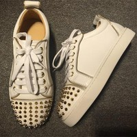 Cl Christian Louboutin Louis Junior Style #2036 Sneakers Fashion Shoes