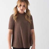 Bad Seed Swing Top in Taupe - Hello Holiday