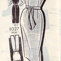 "1960s Misses Sheath Dress Vintage Sewing Pattern, Mad Men, Cocktail Dress Patt-O-Rama Mail Order Pattern 8357 bust 38"" uncut"