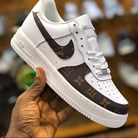 LV x Nike Air Force 1 low-top casual all-match sneakers shoes