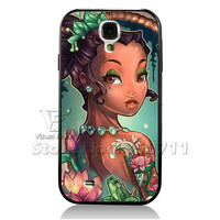 Vintage Princess Case Alice Tinkerbell Little Mermaid Cinderella Cover For Samsung Galaxy S4 I9500 PhoneCase