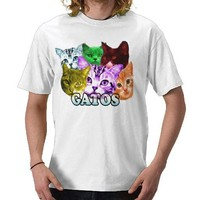 sharkcat GATOS Shirts from Zazzle.com