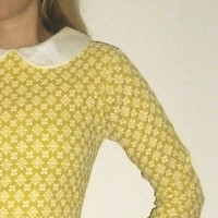 Suzy Bishop peter pan collar dress yellow 1960's