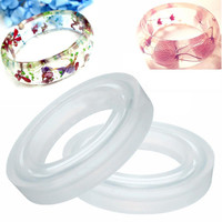 1PC Silicone Round Bracelet Mold Casting Mould For Resin Bangle Bracelet Jewelry Making Tools