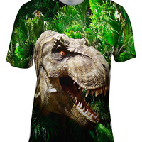 T Rex Within Leaves Face