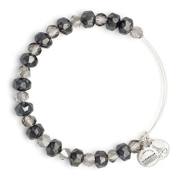 Graphite Tinsel Beaded Banlge | Alex and Ani