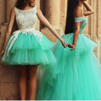 Tulle Homecoming Dresses With Lace