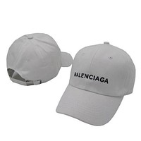 Balenciaga Fashion Embroidered Adjustable Travel Hat Sport Cap