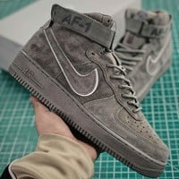 Nike Air Force 1 Mid 07 Deep Royal Suede Fashion Shoes - Best Online Sale